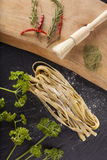 Raw fresh pasta Royalty Free Stock Photo