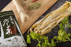 Raw fresh pasta Stock Photography