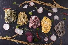 Raw fresh pasta Stock Photo