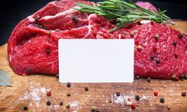 Raw fresh piece of beef meat Stock Photography