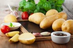 Raw fresh potatoes Royalty Free Stock Photo