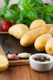 Raw fresh potatoes Royalty Free Stock Photography