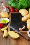 Raw fresh potatoes Stock Photography
