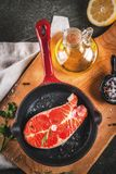 Raw fresh salmon fish Stock Photos