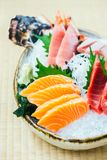 Raw and fresh salmon tuna and other sashimi fish meat Stock Image