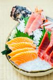 Raw and fresh salmon tuna and other sashimi fish meat Stock Images