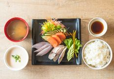 Raw fresh sashimi Stock Photo