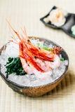 Raw and fresh shrimp or prawn sashimi. Japanese food style Stock Photography