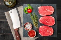 Raw fresh Tender Steak Stock Images