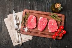 Raw fresh Tender Steak Stock Photos