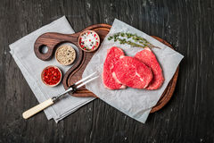 Raw fresh Tender Steak Royalty Free Stock Photos