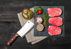 Raw fresh Tender Steak Stock Photography
