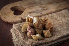 Raw fresh whelks Stock Photo