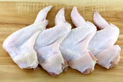 Raw and fresh whole Chicken wings Stock Image