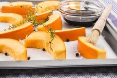 Raw, freshly harvested hokkaido pumpkin Stock Image