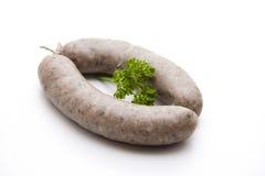 Raw fried sausage Stock Photos
