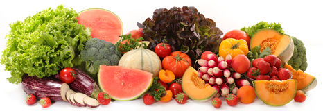 Raw fruit and vegetable Royalty Free Stock Photo