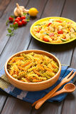 Raw Fusilli or Rotini Pasta royalty free stock photography