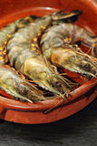 Raw Giant Prawns Royalty Free Stock Photography