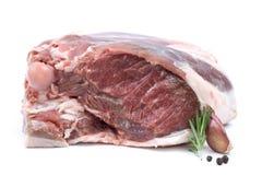 Raw gigot of lamb Stock Image