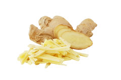 Raw ginger isolated on white background Royalty Free Stock Photography