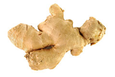 Raw ginger root. On a white background Stock Photos