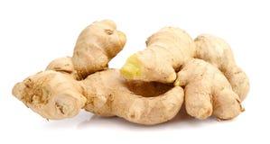 Fresh ginger on white background. Raw ginger  on white background Royalty Free Stock Photography