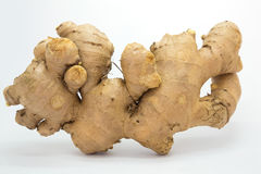 Raw Ginger on white background. Nutrition food background Royalty Free Stock Photography