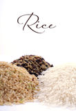 Raw gluten-free rice cereal ingredient. Royalty Free Stock Photos