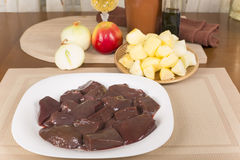 Raw goat liver Stock Photography