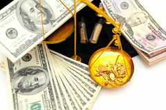Raw Gold And Money royalty free stock photo