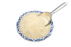 Raw  grain organic jasmine rice Stock Photography