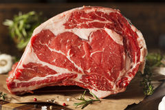 Raw Grass Fed Prime Rib Meat Royalty Free Stock Photography
