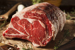 Raw Grass Fed Prime Rib Meat Royalty Free Stock Image