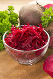 Raw grated beet Stock Image