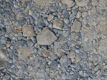 Raw gravel before concrete instead for the construction royalty free stock photos