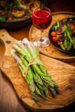 Raw green asparagus Stock Photography