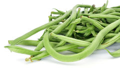 Raw green bean pods Royalty Free Stock Images