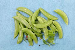 Raw green bean. Top view Royalty Free Stock Photography