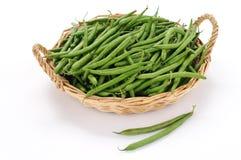 Raw green beans Stock Photos