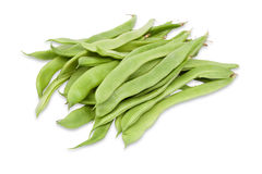 Raw green beans. Isolated on white background Stock Images
