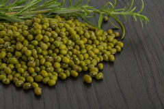 Raw green beans. On the desk Royalty Free Stock Photos