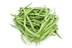 Raw green beans Royalty Free Stock Photos
