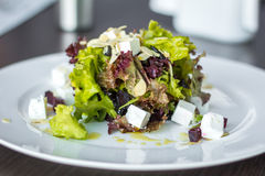 Raw Green Beet Salad with Feta. Raw Green Beet and Arugula Salad with Feta stock photos