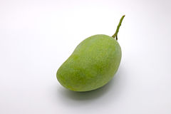 Raw Green Mango on White Background Royalty Free Stock Image