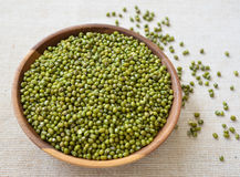 raw green mung beans Stock Photography