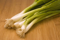 Raw Green Onions Stock Photo