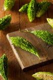 Raw Green Organic Bitter Melon Stock Image