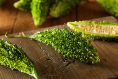 Raw Green Organic Bitter Melon Royalty Free Stock Photos