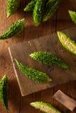 Raw Green Organic Bitter Melon Stock Photography